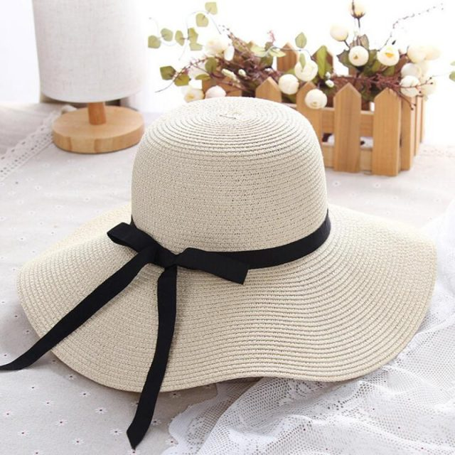 Wide Brim Straw Sun Hat